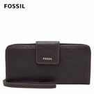 FOSSIL MADISON 真皮多層按扣長夾-黑色 SWL2228001