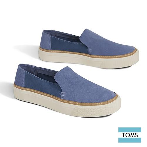 TOMS 簡約麂皮休閒鞋-女款(10012403 BLUE)