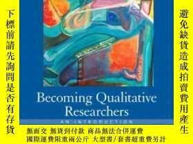 二手書博民逛書店Becoming罕見Qualitative Researcher