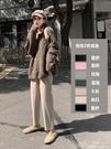 毛呢奶奶褲女秋冬高腰寬鬆加厚闊腿顯瘦直筒休閒褲子蘿卜褲哈倫褲 【全館免運】