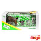 【Mojo Fun 動物星球頻道 獨家授權】精裝禮盒 象與斑馬家族 四件組
