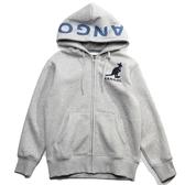 KANGOL 袋鼠 灰藍  大LOGO  連帽 外套 冬季服飾  男 (布魯克林) 6951140112