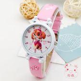 兒童皮帶手錶男孩女孩電子防水錶卡通汪汪隊小學生男女童石英手錶(免運)