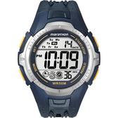 TIMEX 馬拉松系列模擬運動電子腕錶(藍黃)