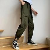 哈倫褲 寬鬆束腳工裝褲秋裝韓版高腰九分休閒褲女顯瘦百搭哈倫褲  芊墨左岸 上新