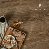 拍照背景佈 PVC拍照背景紙仿銀杏舊木紋板攝影背景布復古INS美食拍攝道具木板 WJ米家