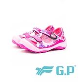 【G.P】兒童磁扣護趾涼鞋 童鞋-桃粉(另有藍綠、黃)
