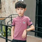 男童短袖t恤2020新款兒童短袖t恤春季polo衫體恤上衣大童韓版潮童 藍嵐