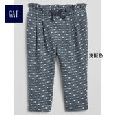 Gap女嬰兒 柔軟圓點印花鬆緊腰針織長褲 231135-淺藍色