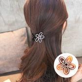 【Hera 赫拉】立體鏤空花朵水鑽髮夾抓夾咖啡色