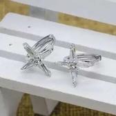 耳環 925純銀鑲鑽-百搭十字架生日情人節禮物女飾品73ds62【時尚巴黎】