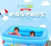 充氣泳池 嬰兒游泳池家用超大寶寶加厚室內充氣保溫游泳桶新生幼兒童洗澡桶 2款