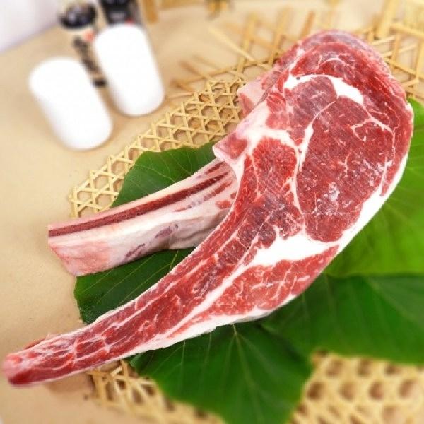 【南紡購物中心】《好神》澳洲濕式熟成穀飼戰斧帶骨沙朗牛排 單支組 (500G±10%/片)