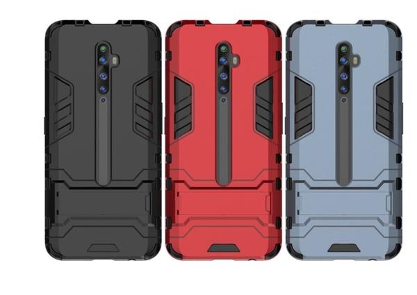 OPPO Reno ACE鋼鐵俠鎧甲手機殼 Reno Z2隱形支架創意防摔套