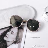 橢圓框墨鏡女時尚個性太陽鏡韓版復古原宿風防紫外線 樂芙美鞋