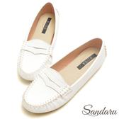 訂製鞋 MIT經典舒適莫卡辛豆豆鞋-艾莉莎ALISA【09319】白色下單區