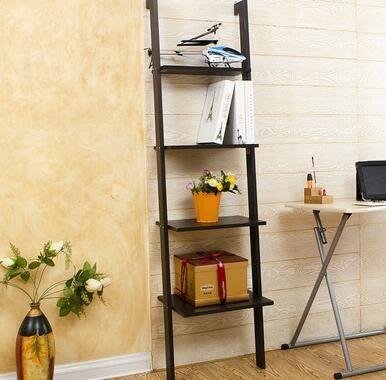 宜家書架收納架 衛生間置物架擱板 靠牆置物架 梯形層架花架