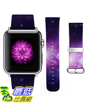[107美國直購] 錶帶 Apple Watch Band 42mm Genuine Leather Strap Wrist Band Replacement