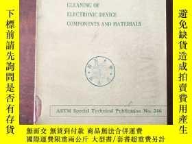 二手書博民逛書店symposium罕見on cleaning of electronic device components an