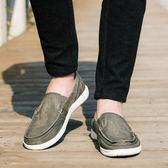 夏季休閒帆布鞋輕便鞋 一腳蹬懶人鞋 大碼男鞋 《印象精品》q405