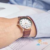 流行男錶超薄款皮質防水石英男錶女錶情侶錶男士腕錶皮帶學生女士手錶