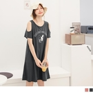 《DA7833》台灣製造.可愛法鬥印圖挖肩棉質寬版洋裝 OrangeBear