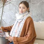 圍巾—韓版毛線圍巾女秋冬季加厚日系軟妹學生圍脖百搭保暖格子披肩兩用