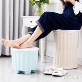 收納凳 儲物凳可坐成人塑料收納盒換鞋凳寢室宿舍儲物凳沙發小凳子 FR8815『俏美人大尺碼』
