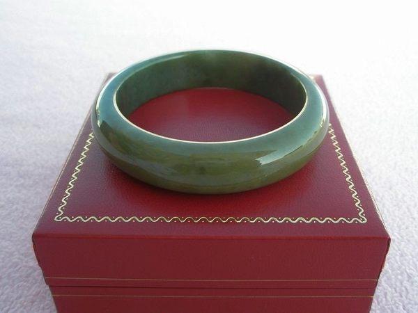 【歡喜心珠寶】【天然緬甸冰種老油青翡翠手鐲】滿綠色玉鐲17.5圍.A貨附保証書和「寶石鑑定書」