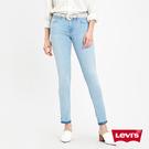 Levis 女款 711中腰緊身窄管牛仔褲 / 淺藍水洗 / 翻邊褲管 / 四向彈性延展