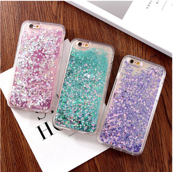 軟邊愛心流沙手機套 iPhone7/Plus/ iPhone6 Plus/i6 手機殼 手機保護套