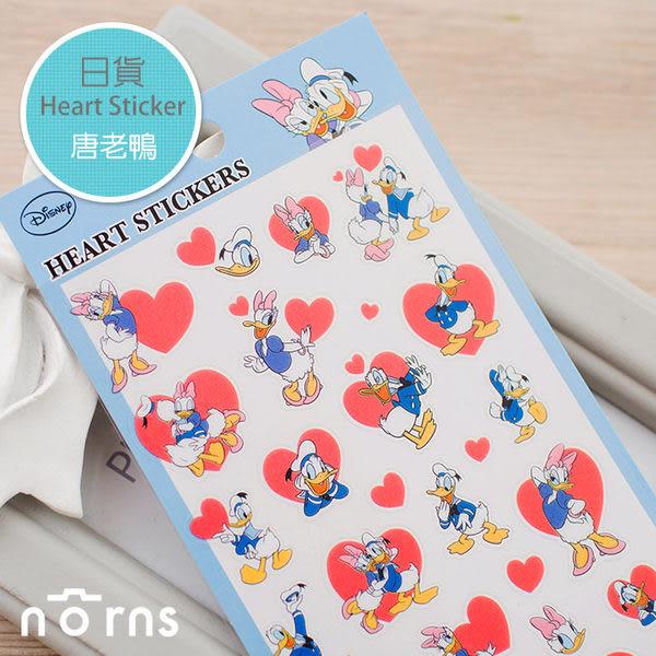 NORNS 【日貨Heart sticker-唐老鴨】迪士尼 donald 拍立得 邊框貼 裝飾貼紙