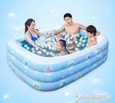 嬰兒童充氣游泳池家庭寶寶成人小孩戲水池加厚家用海洋球池 igo時尚芭莎鞋櫃 igo 時尚芭莎鞋櫃