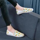 老北京布鞋女一腳蹬薄平底帆布