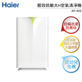 Haier海爾 醛效抗敏大H空氣清淨機 AP450 (適用20坪)