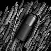HYDY 午夜黑-黑杯 兩用隨行保溫杯 450ml + 泡茶器