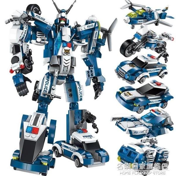 拼裝兒童玩具益智力動腦男孩8歲變形機器人金剛恐龍兼容 樂高積木【名購新品】