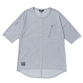 MIZUNO 女裝 短袖 七分袖 1906 胸前拉鍊口袋 下擺開岔 灰【運動世界】D2TA120105