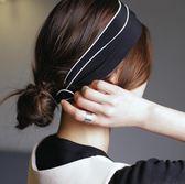 經典純色寬邊雪紡交叉髮帶 百搭甜美氣質鬆緊髮帶髮飾新    芊惠衣屋