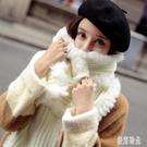 秋冬兔毛毛線圍巾針織白色圍巾女冬季女士圍脖加厚保暖百搭長女生 FF4000【美好時光】