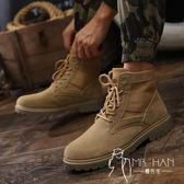 马丁靴  皮鞋 男士馬丁靴男鞋中高幫潮流男靴子英倫短靴工裝鞋軍靴秋季鞋子冬季