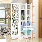 屏風 歐式屏風隔斷客廳玄關櫃現代時尚行動門廳裝飾櫃鏤空雕花麋鹿T 1色