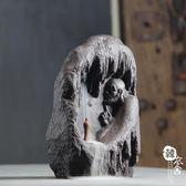 入門陶瓷香薰爐禪意紫砂倒流香爐高山流水觀賞客廳居室創意擺件