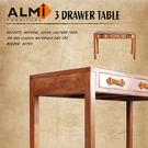 【ALMI】BAYADERE-DESK 3 DRAWERS 三抽書桌