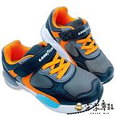 【樂樂童鞋】GOODYEAR 童款輕量緩震運動鞋-灰橘 G020-1 - 女童鞋 男童鞋 運動鞋 布鞋 球鞋 跑步鞋