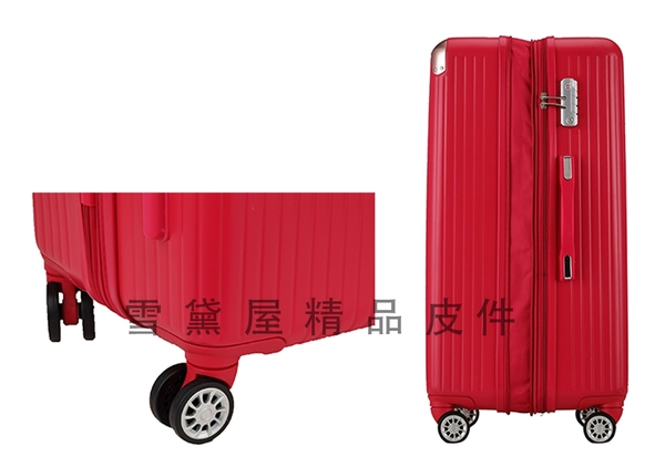~雪黛屋~CLASSIC 19吋行李箱外掛勾加大固定防盜海密鎖硬殼360度耐摔磨測通過箱體#72508