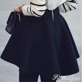 高腰太空棉半身裙女秋冬新款大碼百褶裙短裙子傘裙顯瘦蓬蓬裙 雙十一全館免運