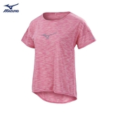 MIZUNO 女裝 上衣 短袖 T恤 路跑 訓練 吸汗 快乾 透氣 舒適 粉【運動世界】J2TA920464