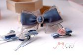 蜜諾菈Minerva‧專屬設計柔美紗優雅蝴蝶結髮飾套組‧編號00446