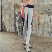 現貨-運動褲-S-2XL鬆緊貼身彈力三色拼接撞色造型運動褲Kiwi Shop奇異果0717【STD9415】